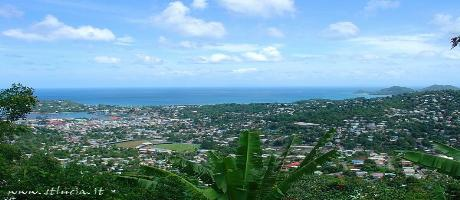 St. Lucia - Castries, panorama