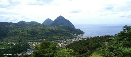 St. Lucia - Soufrière, panorama